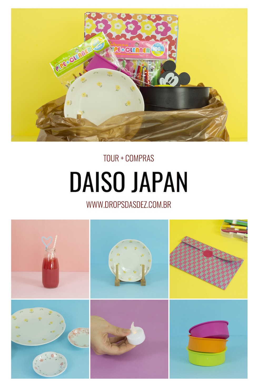 Tour e Compras na Daiso Japan