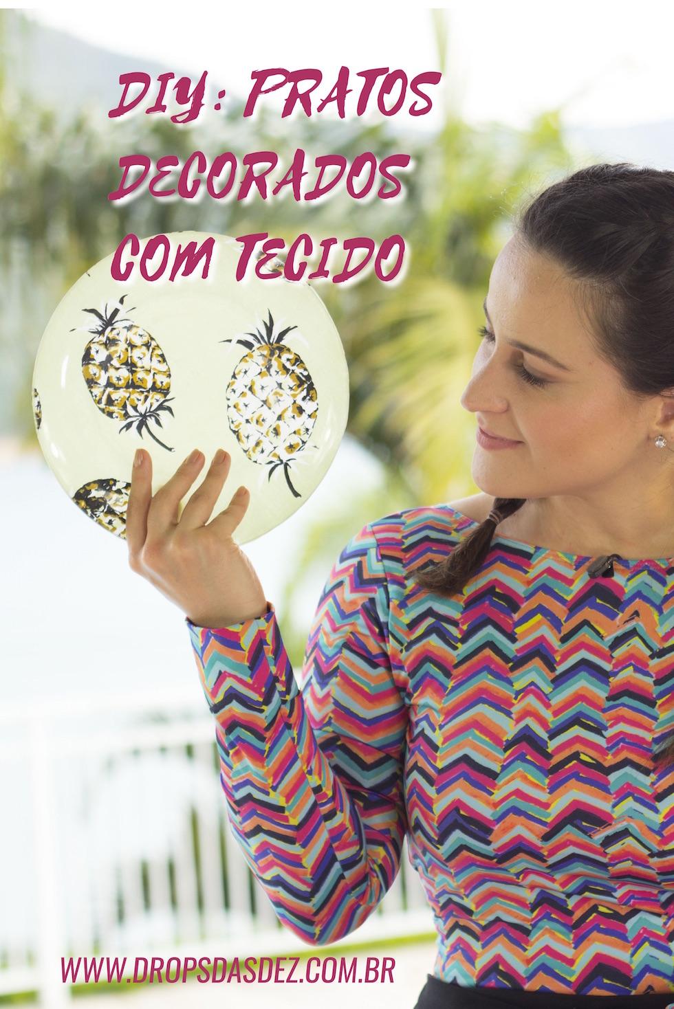 DIY: Como Fazer Pratos Decorados Com Tecido