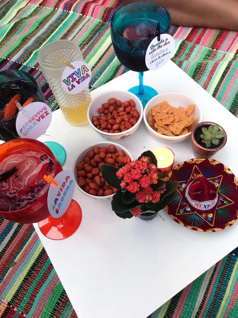 noite mexicana festa mexicana laina mesa posta recebendo amigos drinks mexicanos