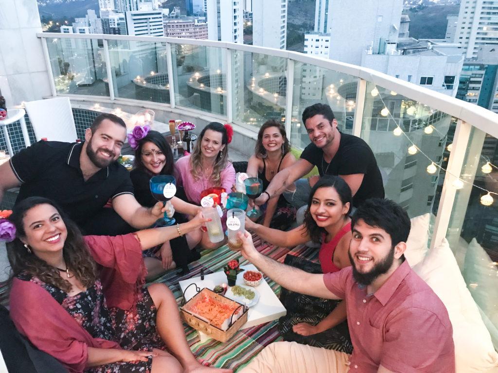 noite mexicana festa mexicana laina mesa posta recebendo amigos