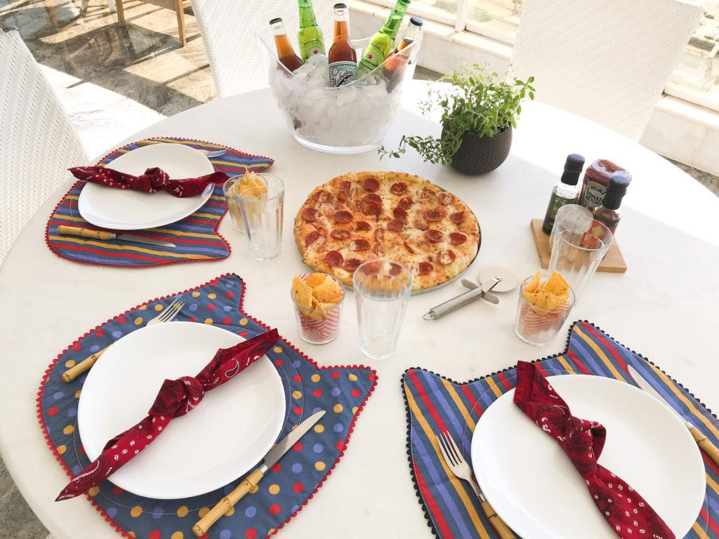 noite da pizza em casa com os amigos recebendo amigos laina