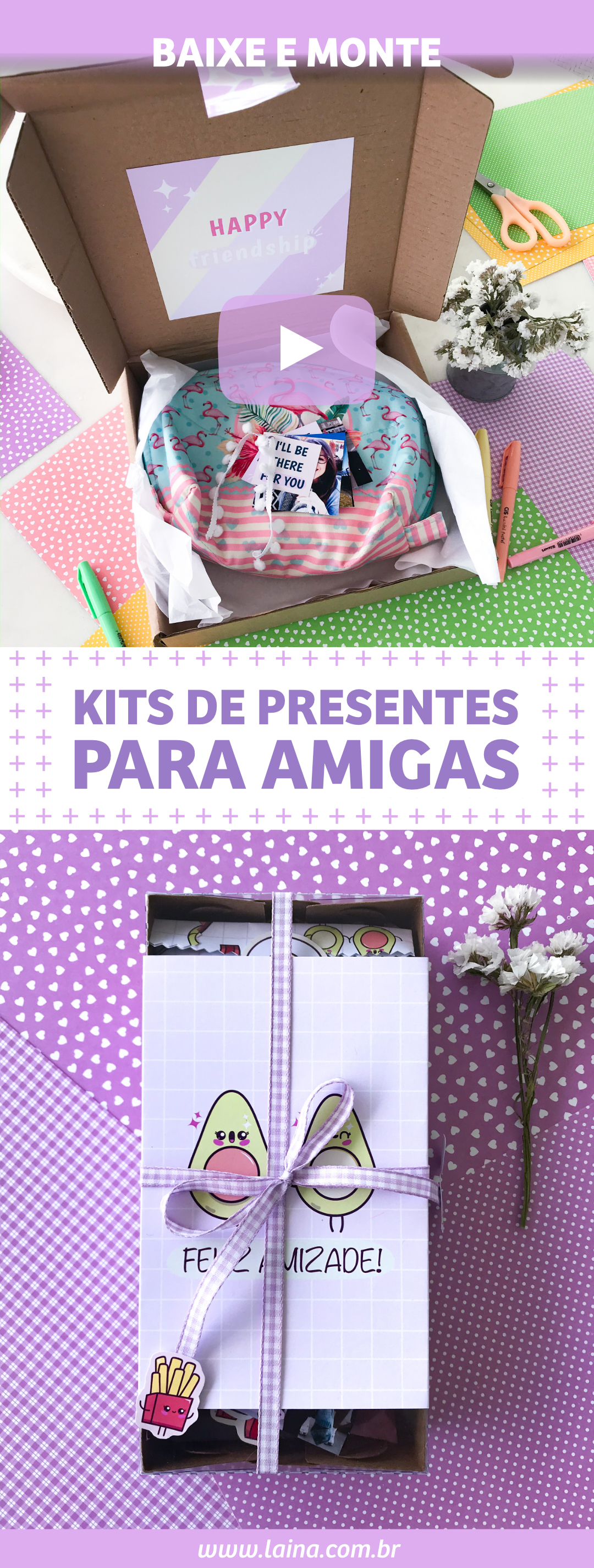 DIY Kits de Presentes Para as Amigas - Parceira de Comida e Série Friends