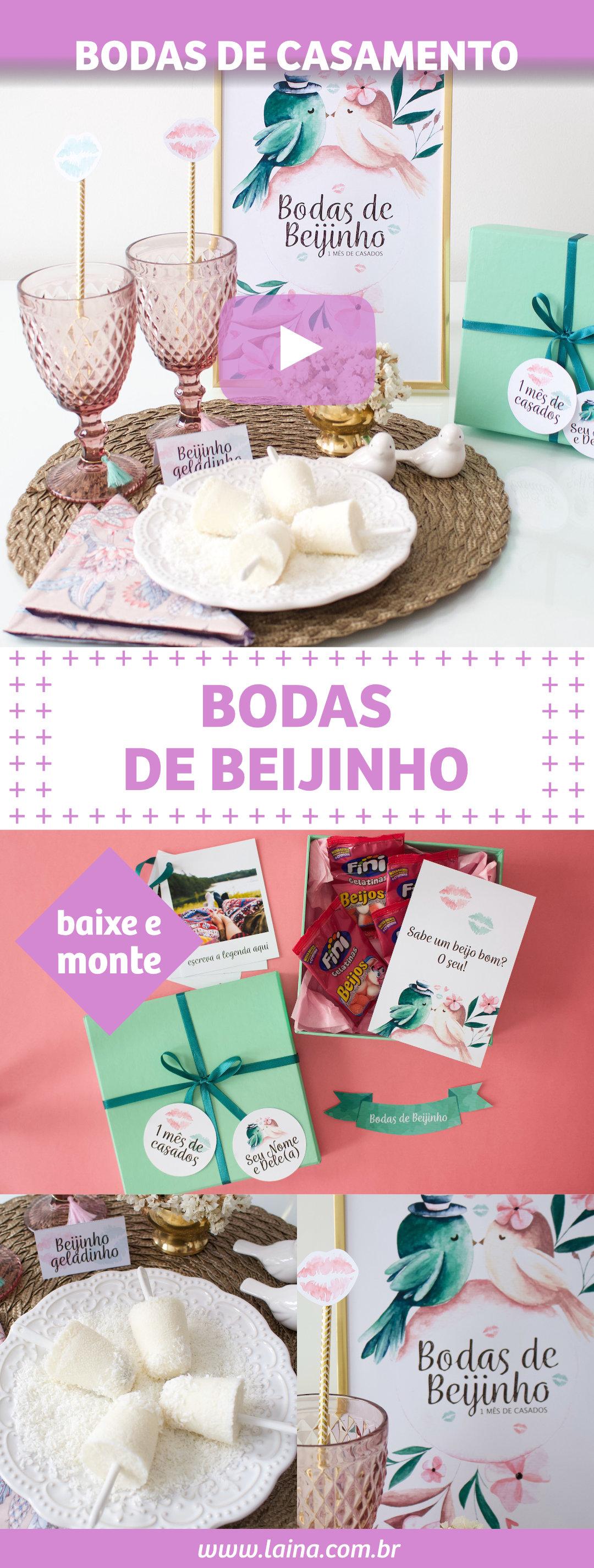 Bodas de Beijinho - surpresa para comemorar o 1° mês de casados
