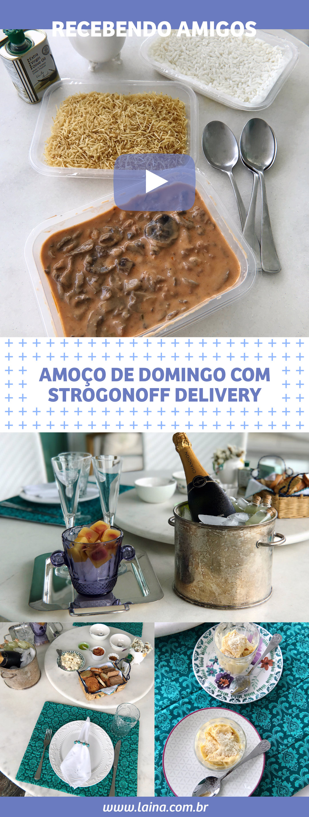 Recebendo Amigos: Conheça o Bistrogonoff Delivery de Strogonoff em BH