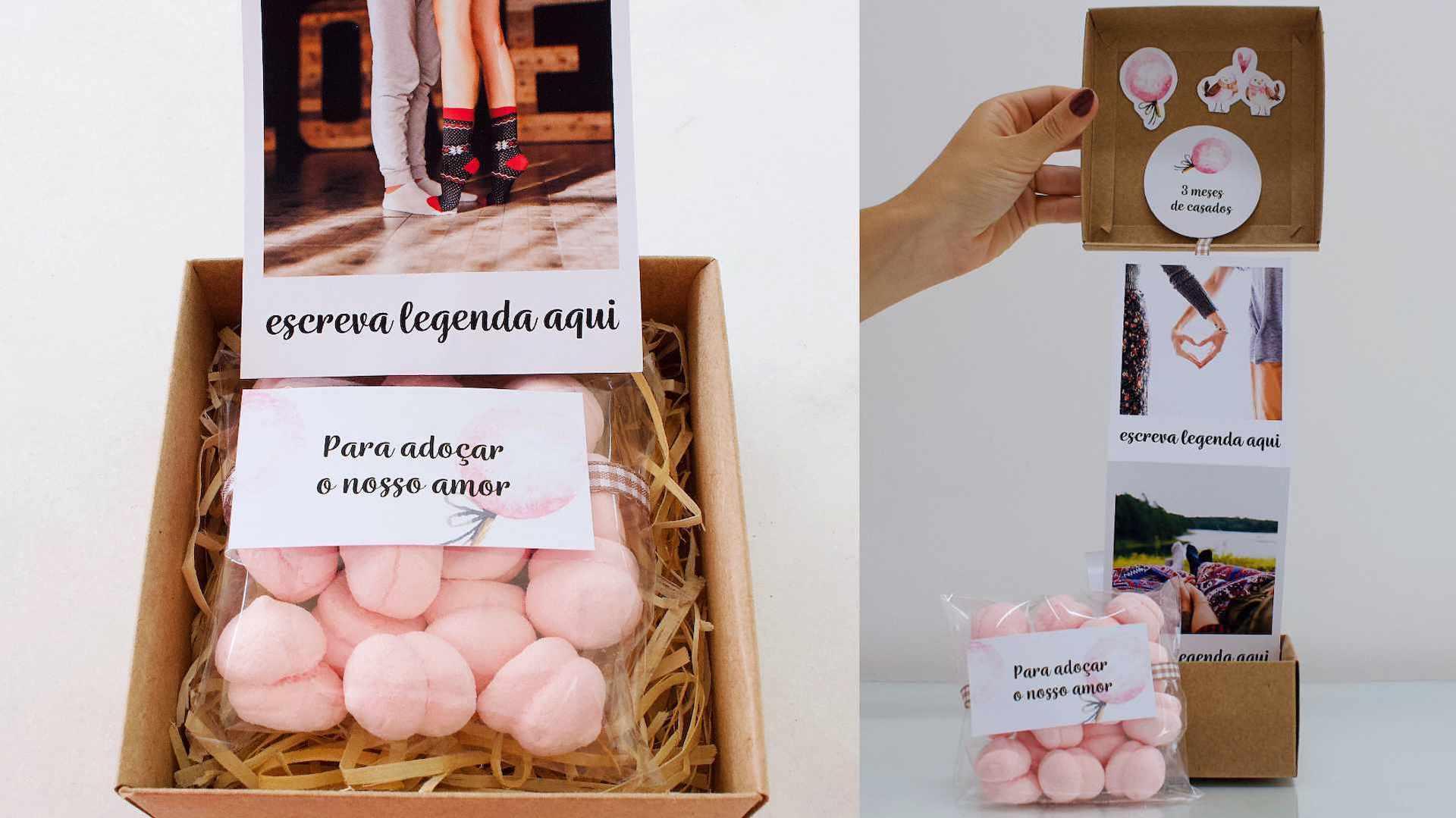 presente personalizado bodas de algodão doce