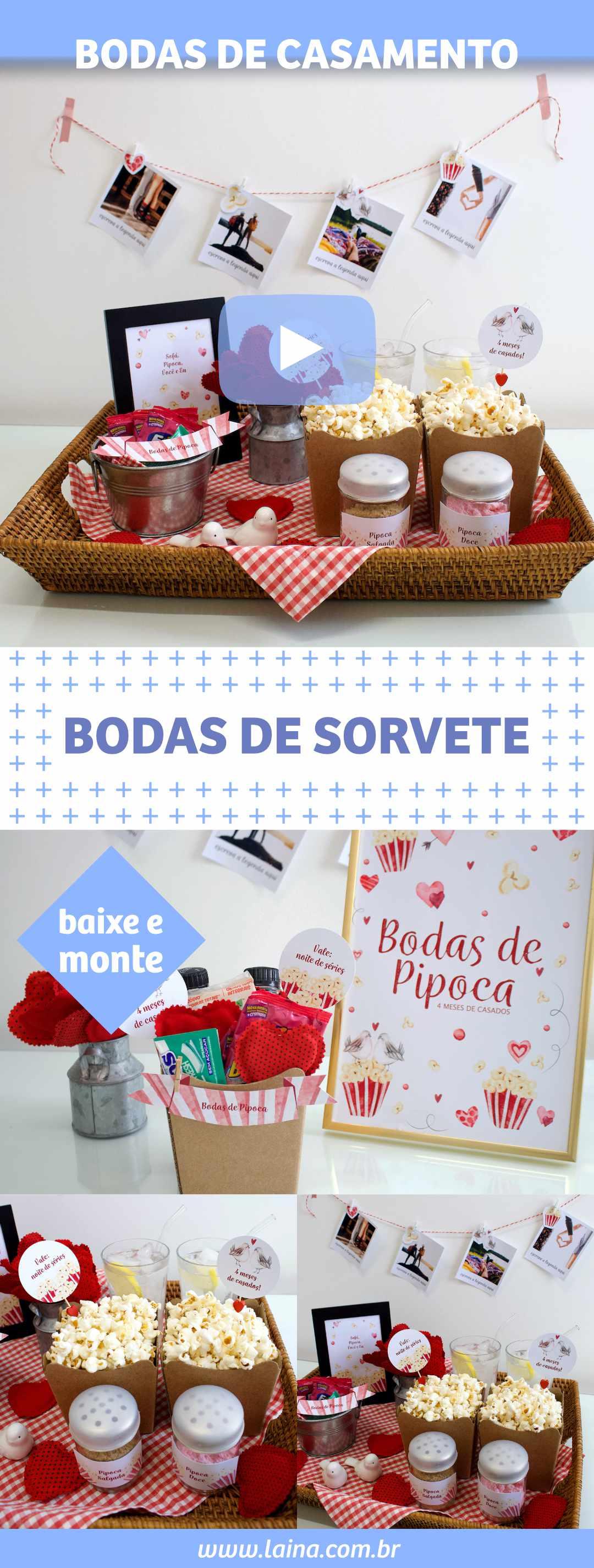 BODAS DE PIPOCA - Comemorando 4 meses de casados com noite de séries e filmes