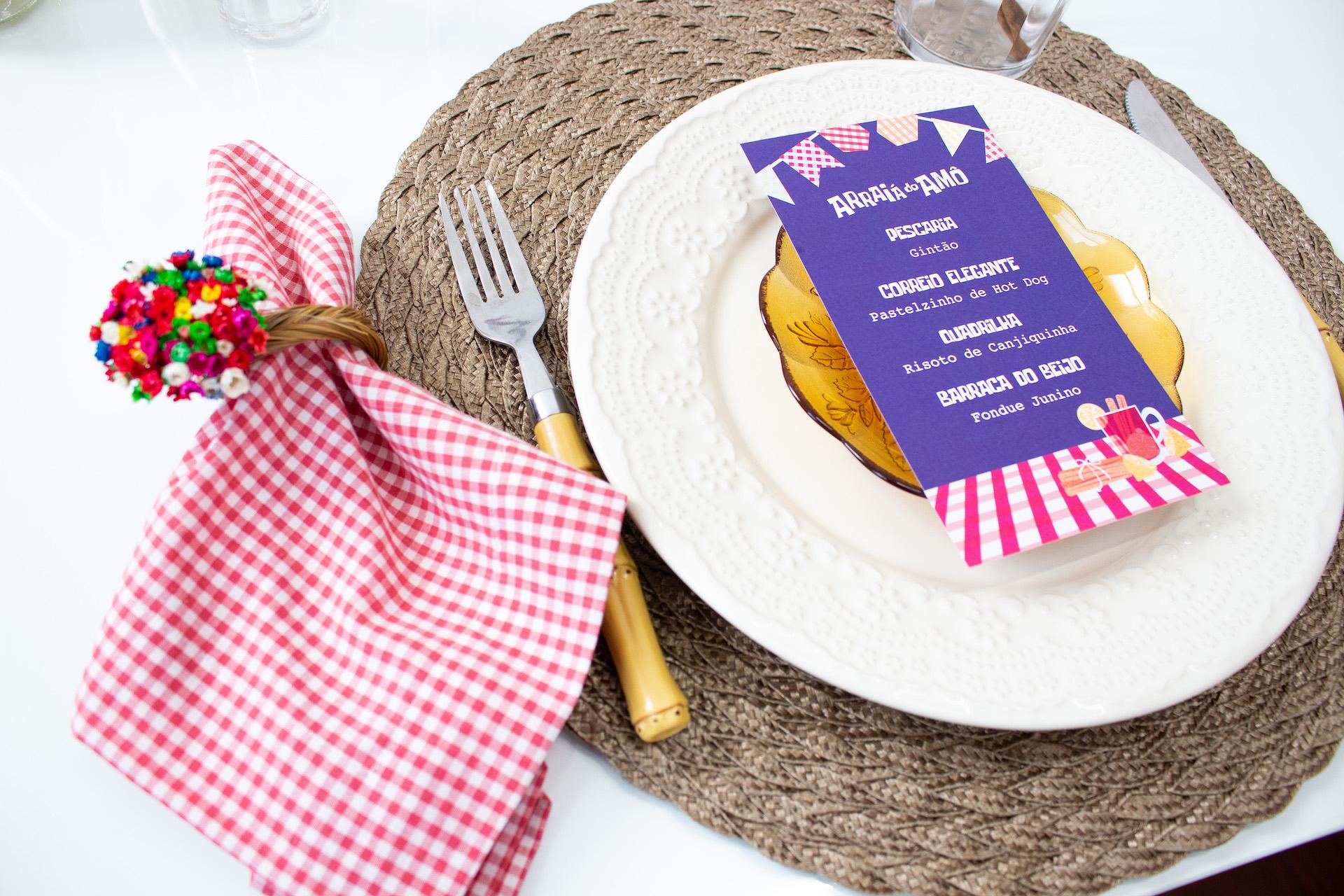 arraia do amor menu para festa junina decoração fácil