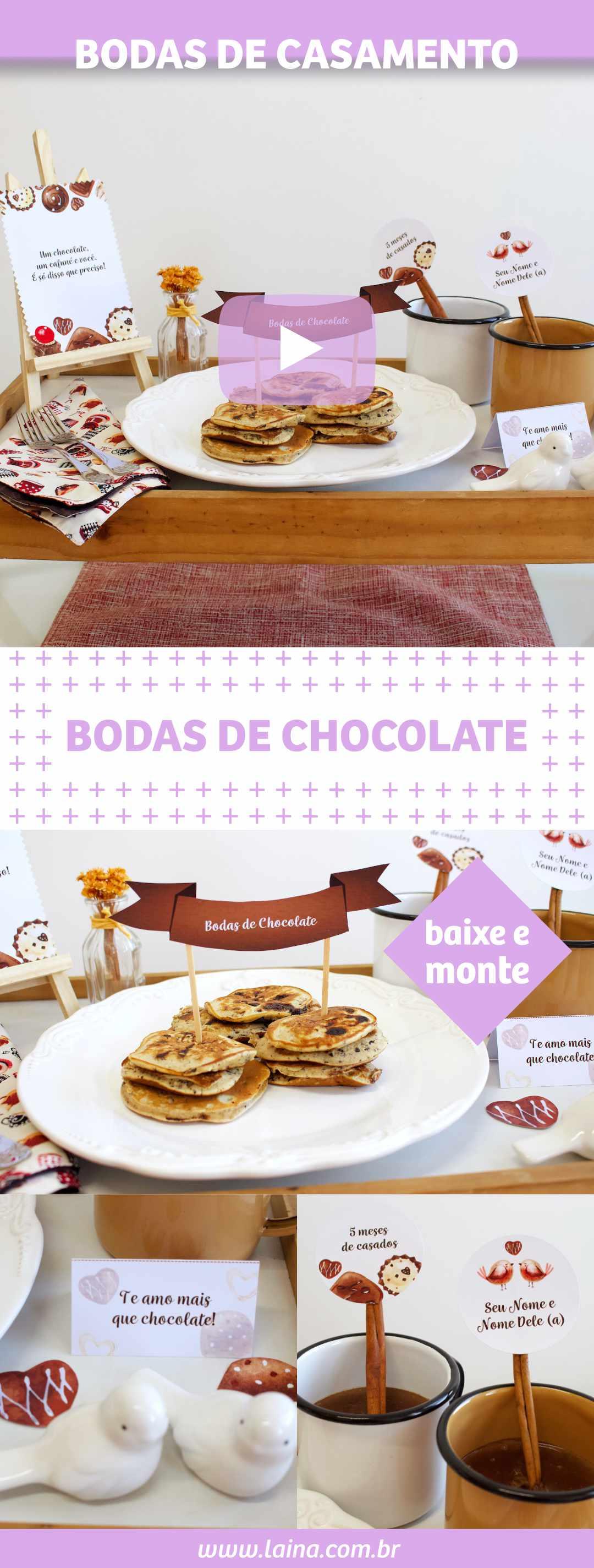 BODAS DE CHOCOLATE - Comemorando 5 meses de casados com CAFÉ DA MANHÃ ROMÂNTICO