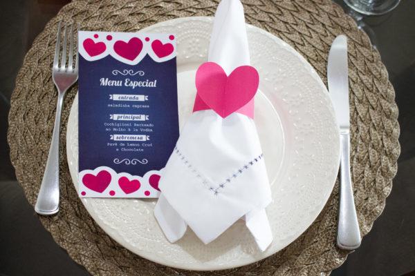 mesa posta jantar completo dia dos namorados