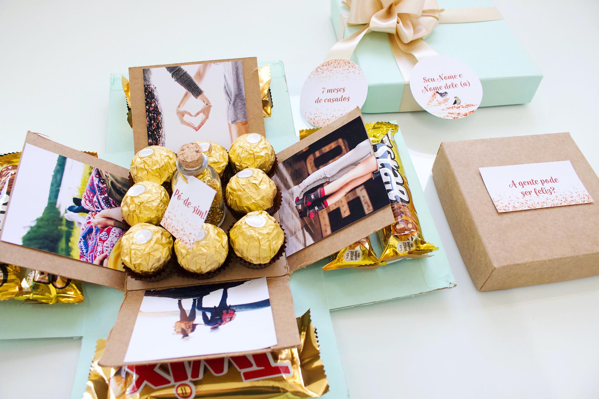 bodas de purpurina dicas comemoração moldes grátis caixa explosiva