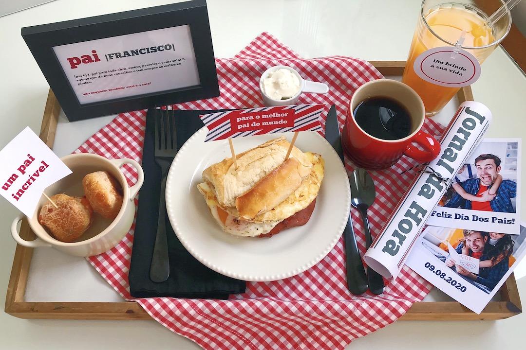 café da manhã surpresa dia dos pais como fazer passo a passo laina