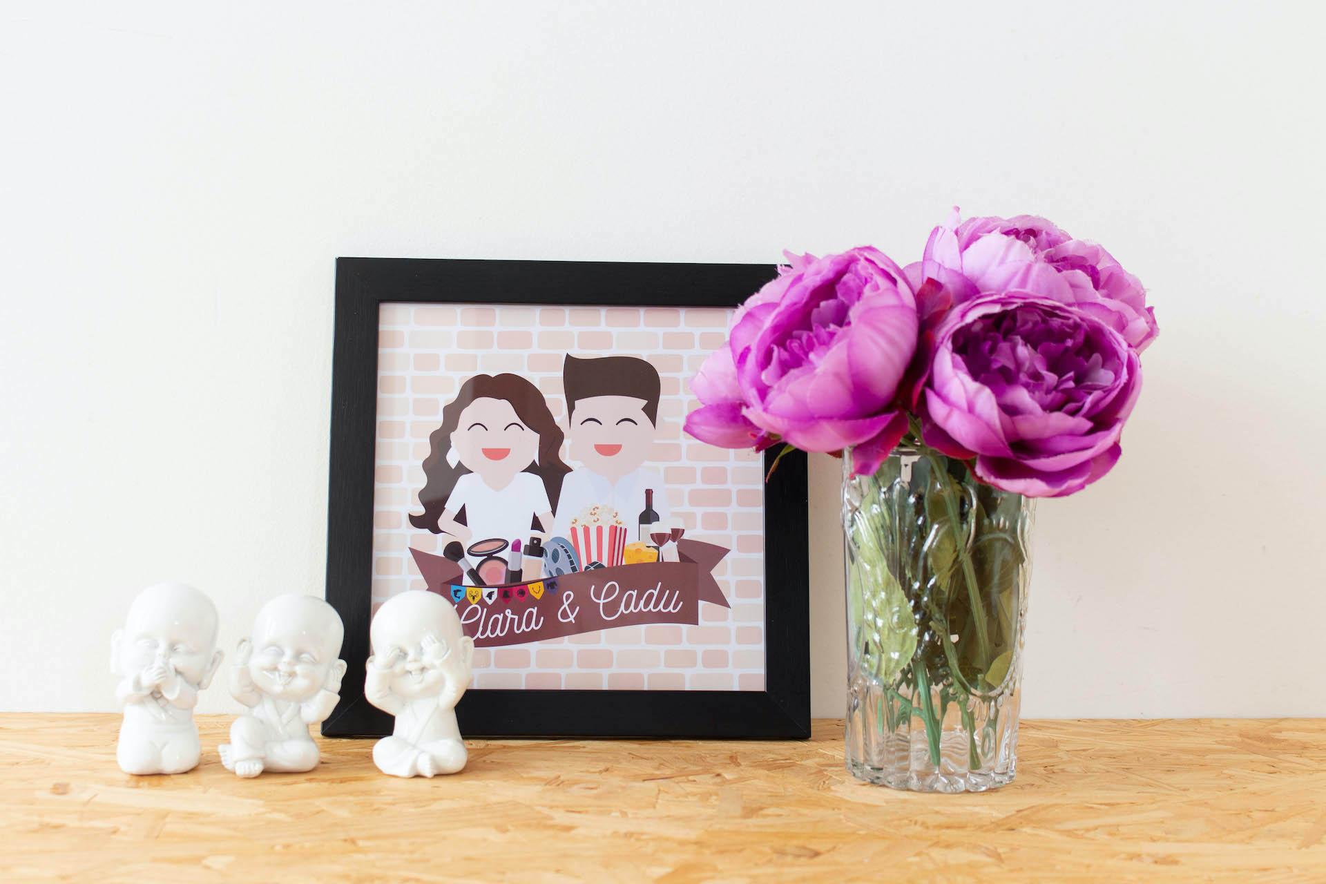 ilustração digital personalizada de casal como fazer