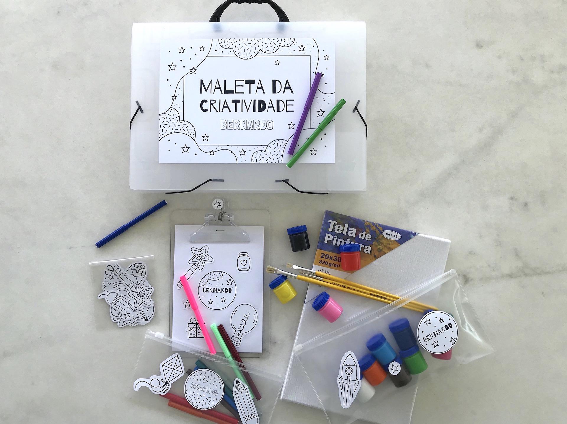 presente personalizado para o dia das crianças ideias maleta da criatividade