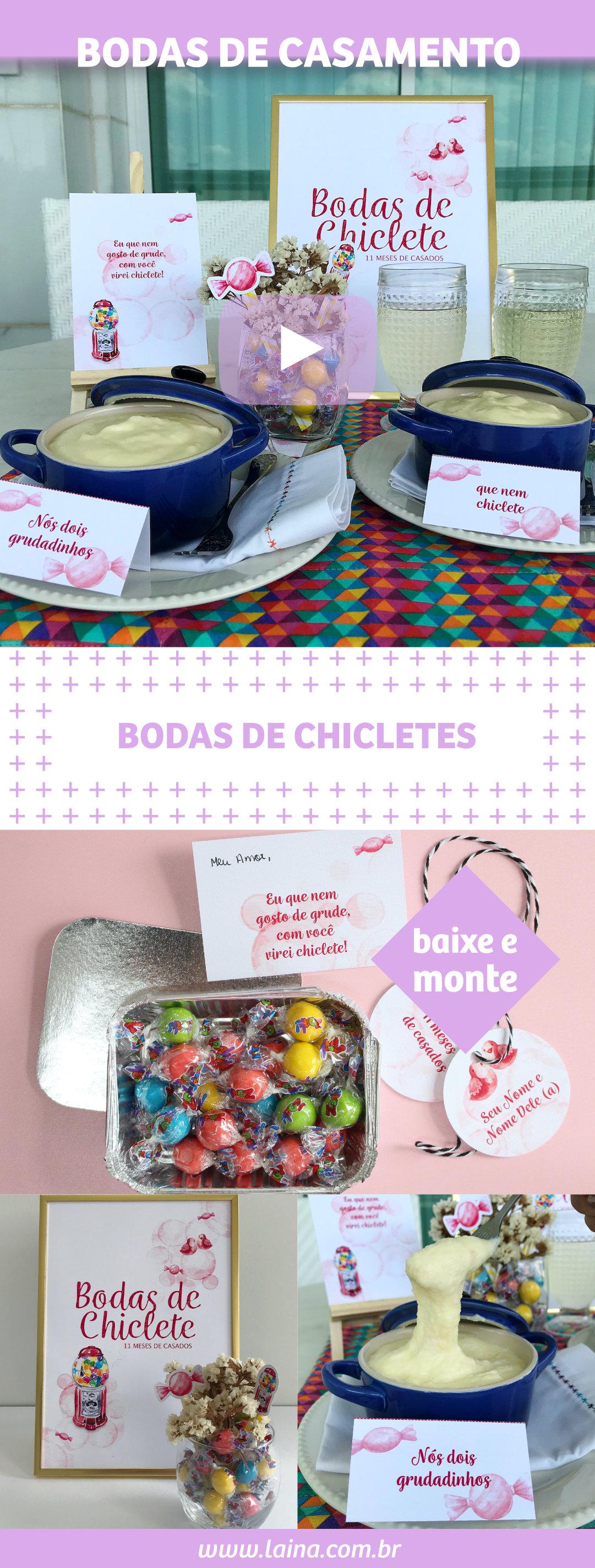 BODAS DE CHICLETES: Dica de Receita Fácil para fazer com o seu amor!!