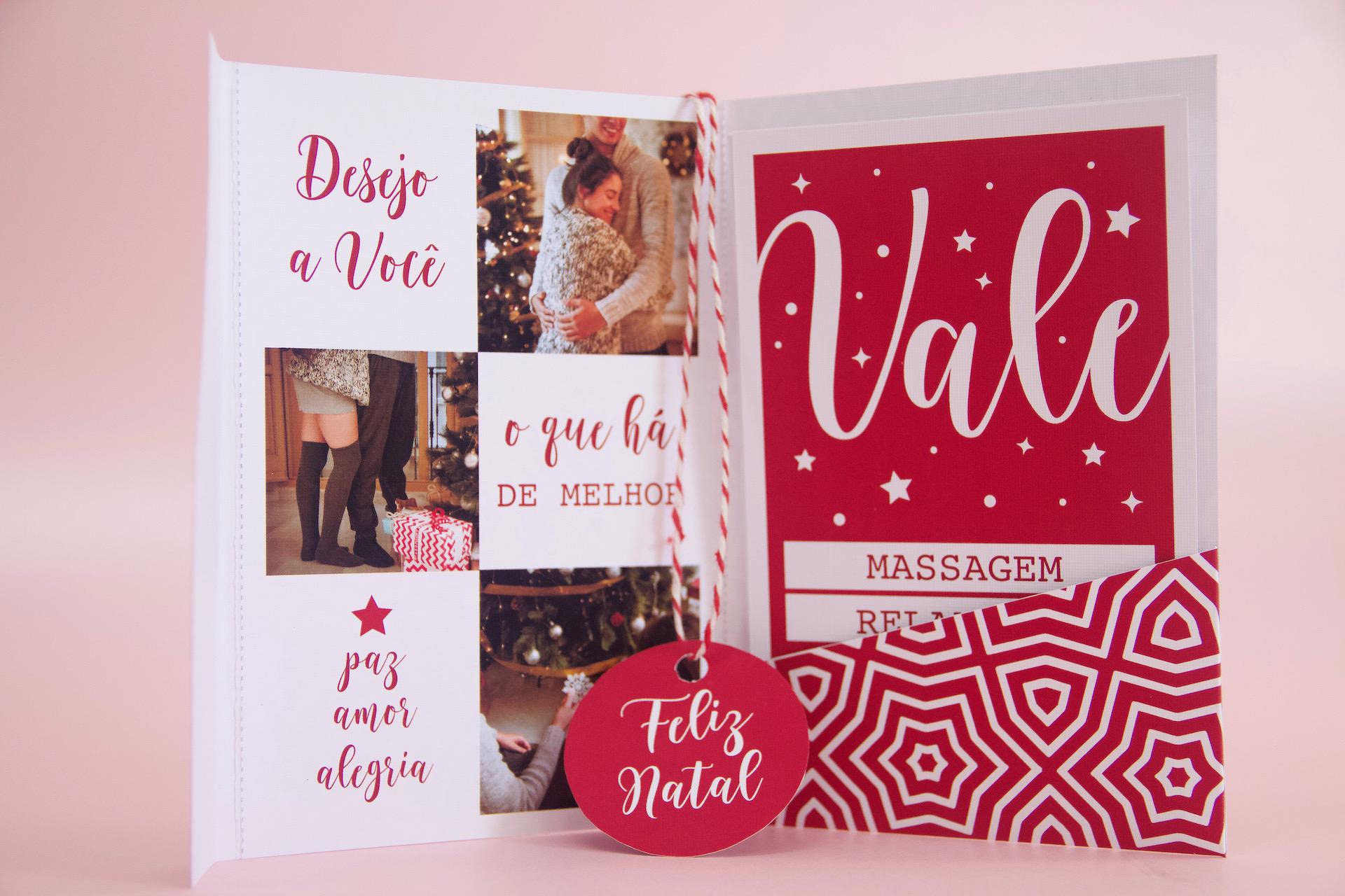 cartão presente de natal ideia de presente barato