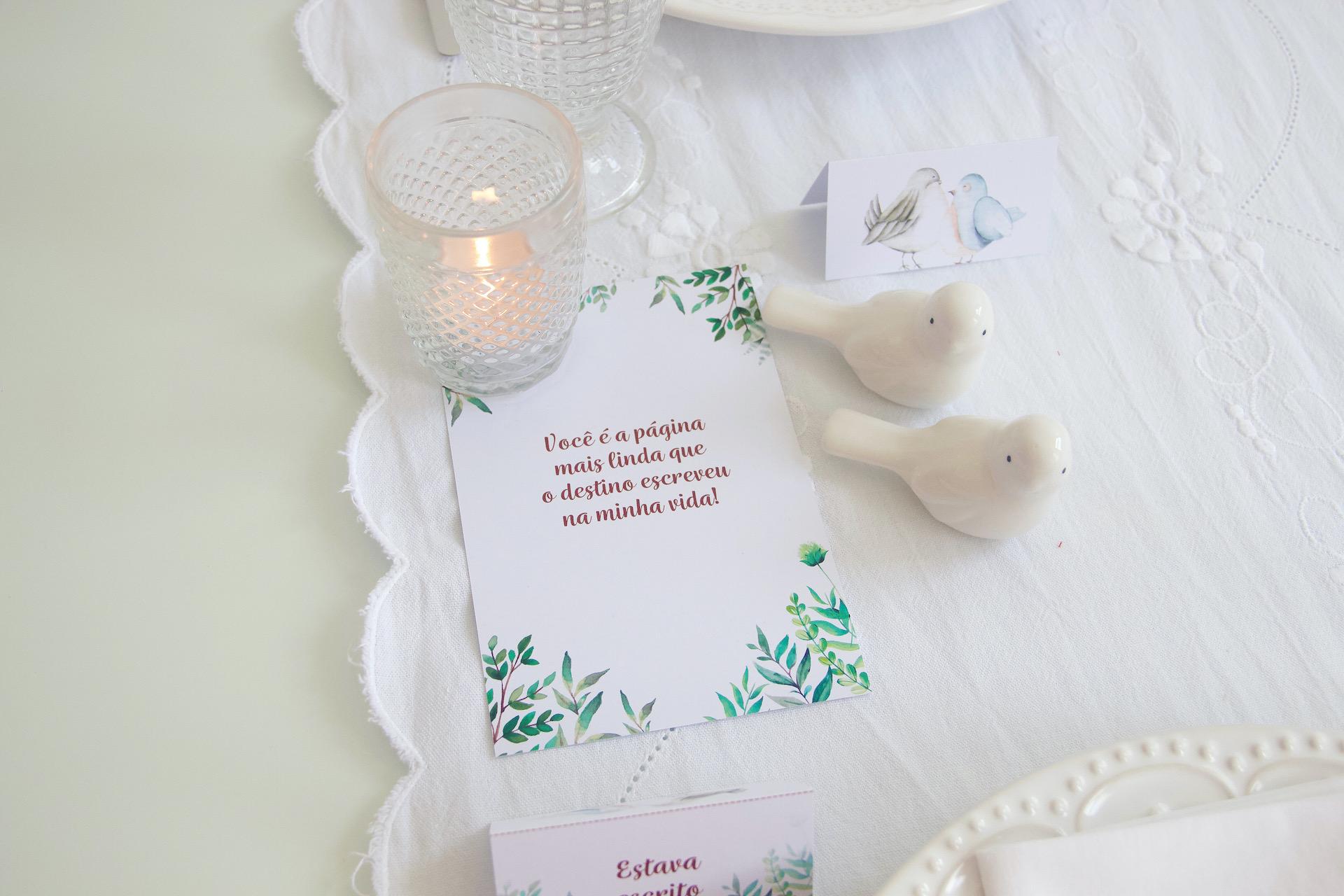 bodas de papel mensagem romântica