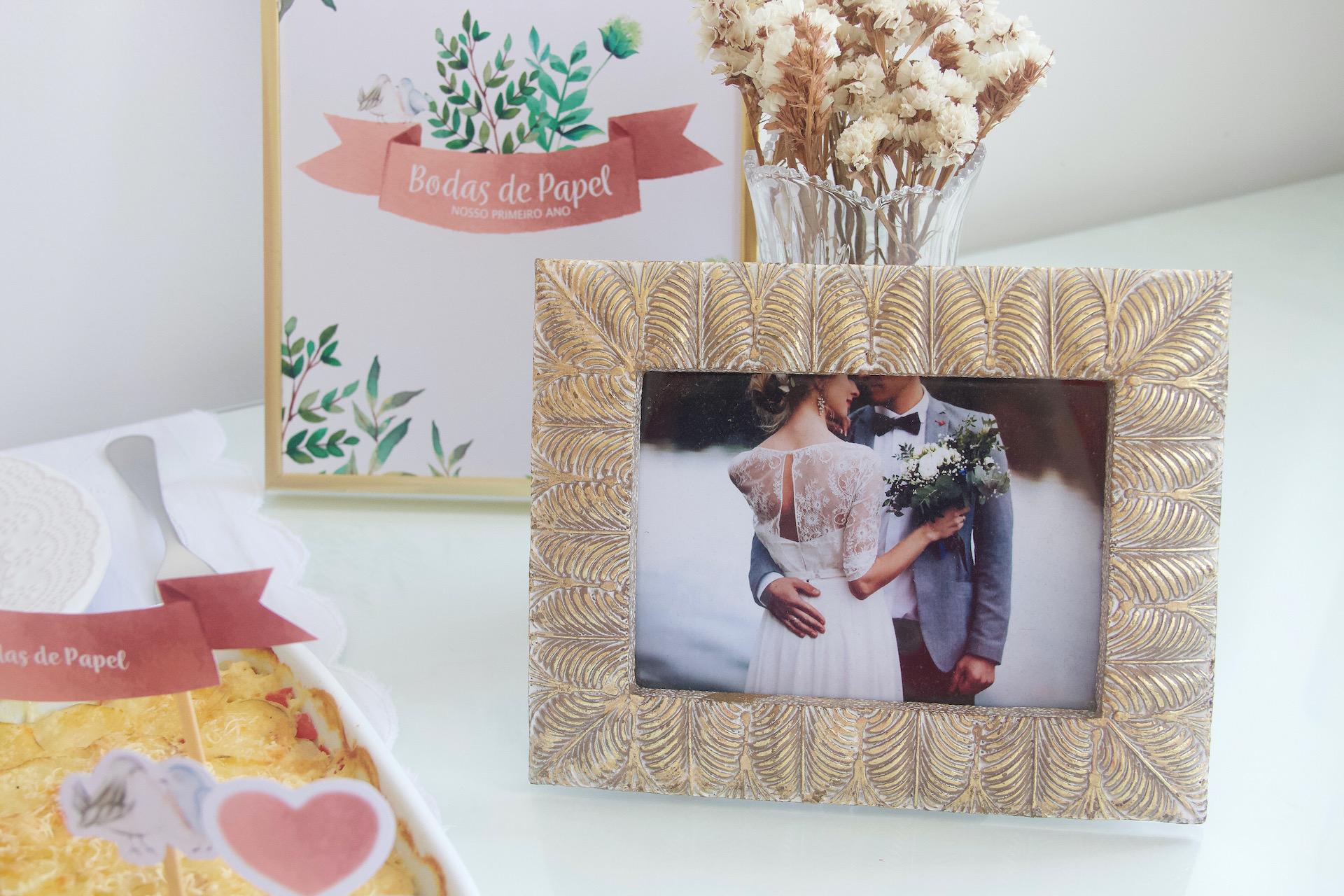 bodas de papel decoração