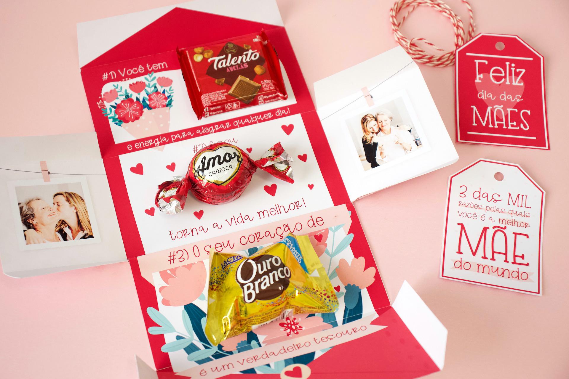 Caixa Bombom Dia das Mães Personalizada com Mensagem