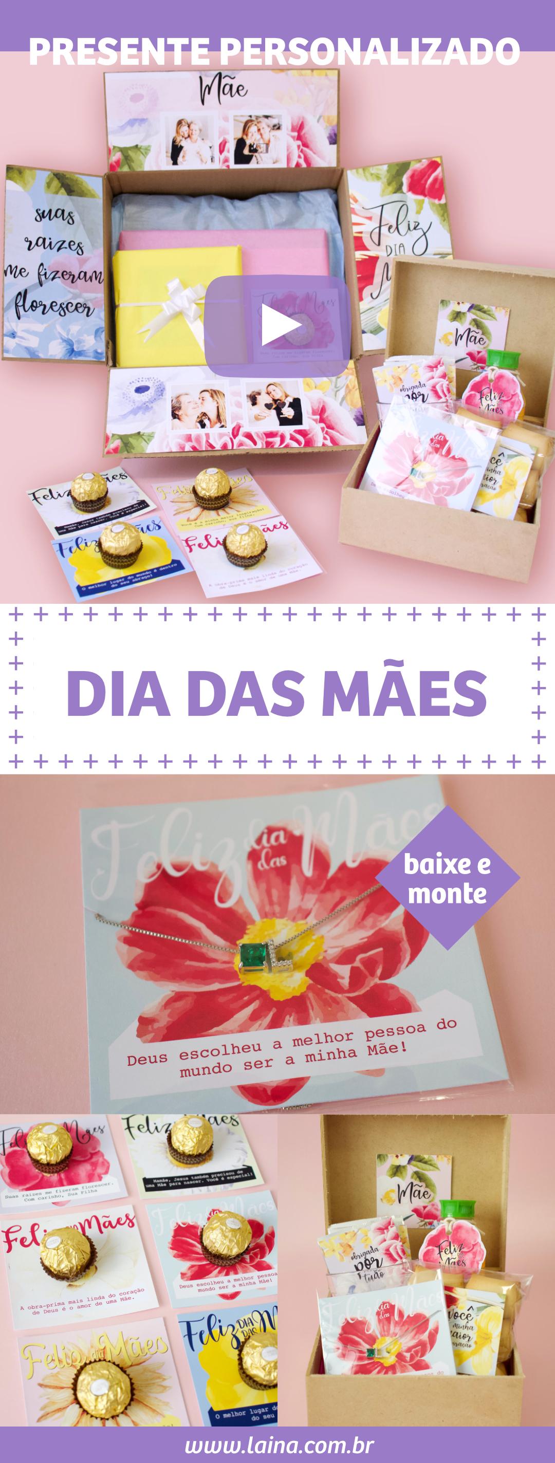 3 Dicas de Presente Para o Dia Das Mães - baixe e personalize em casa